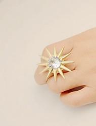 cheap -Women's Open Cuff Ring 1pc Gold Silver Imitation Diamond Alloy Fashion Jewelry