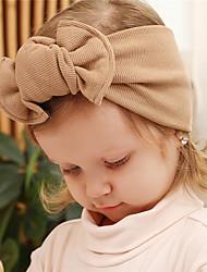 Недорогие -Ткань Хайратники Durag Для детской Бант Эластичность Назначение Новорожденный Праздники Стиль Активный Светло-розовый Светло-синий Фиолетовый 1 шт.