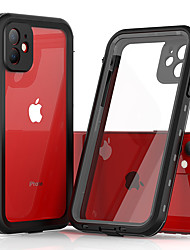 cheap -Case For Apple iPhone 11 / iPhone 11 Pro / iPhone 11 Pro Max Shockproof / Dustproof / Water Resistant Full Body Cases Transparent Silica Gel