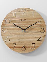 cheap -Modern minimalist silent fashion wall clock wooden clock khaki 30x30cm