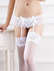 cheap -Women's Lace Garters & Suspenders Nightwear Jacquard White