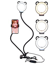 cheap -Selfie Ring Light with Cell Phone Holder Stand Double Hose Fill Light Bracket Lazy Bracket Lamp Reading Lamp Bedside Lamp Live Stream Office Kitchen USB 1pc