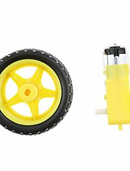 cheap -AU For Arduino Smart Car Robot Plastic Tire Wheel  Gear Motor DC 3-6V DIY Robot