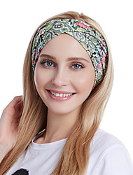 cheap -Fabric Headbands Durag Sports Adjustable Bowknot For Holiday Street Sporty Simple Fuchsia Pale Pink Cyan 1 Piece / Women's