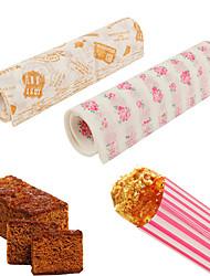 cheap -50pcs Set Food Packing Paper Waterproof Food Wax Paper Cake Cookie Macaron Greaseproof Baking Sheet Packaging Paper