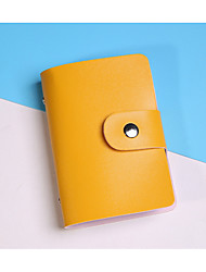 cheap -Women's Zipper PU Wallet Solid Color Yellow / Orange / Sky Blue