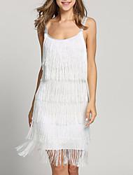 cheap -Women's Shift Dress - Sleeveless Solid Color Strap White Black Silver S M L XL XXL XXXL XXXXL XXXXXL