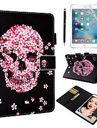Недорогие -кейс&усилитель; Стилус&усилитель; 1 шт. Экран защиты для Apple Ipad Mini 12345 с подставкой / флип / ультратонкий задняя крышка черепа / цветок искусственная кожа