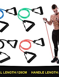 cheap -120cm Yoga Pull Rope Resistance Bands Fitness Gum Elastic Bands Fitness Equipment Rubber expander Workout Exercise Training Band