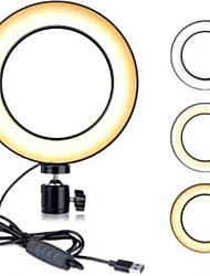 cheap -Round Selfie Ring Light LED Night Light Dimmable Easy Carrying Mode Switching USB 1pc