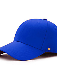 cheap -Unisex Baseball Cap PU Cotton Basic - Solid Colored All Seasons White Black Blue