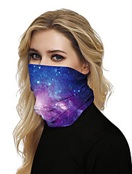 cheap -Women's Face cover Spandex Party Halloween GalaxyMask Print Basic Polyester Fall Winter