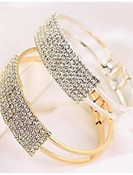 cheap -Women's White Bracelet Bangles Hollow Out Star Stylish Trendy Alloy Bracelet Jewelry Gold / Silver For Party Evening Gift Formal Date Festival