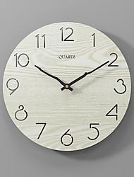 cheap -Modern minimalist silent fashion wall clock wooden clock beige 30x30cm