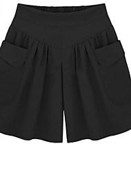 cheap -Women's Basic Cotton Loose Shorts Biker Shorts Pants Solid Colored High Waist Army Green Black Khaki Navy Blue