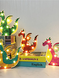 cheap -1X  Cartoon Led Night Lamp Hanging Desktop AA Battery Powered Cute Light Kids Gift Bedside Path Dragon Shape Decorative  Animal Style