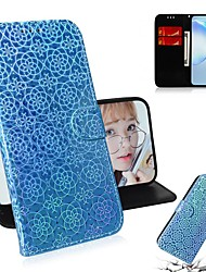 cheap -Case For Samsung Galaxy S9 / S9 Plus / S8 Plus Wallet / Card Holder / with Stand Full Body Cases Solid Colored / Glitter Shine PU Leather For Galaxy S10 Plus/S10E/S20 Ultra/S7 Edge/S20 Plus
