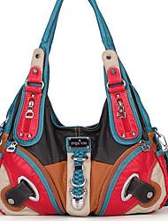 cheap -Women's Zipper Polyester Top Handle Bag Fuchsia / Red / Brown