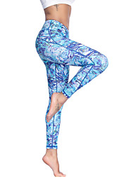 cheap -Women's High Waist Yoga Pants Leggings Butt Lift 4 Way Stretch Breathable Light Green Non See-through Gym Workout Running Fitness Sports Activewear High Elasticity Slim / Moisture Wicking / Quick Dry
