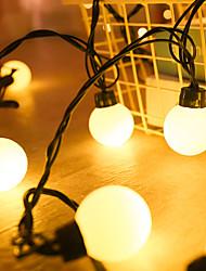cheap -6M 20 Led Wedding String Fairy Light Christmas LED Globe Festoon Bulb Led Fairy String Light IP65 Outdoor Party Garden Garland Decor Lighting AC220V 230V 240V EU Plug
