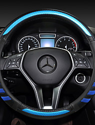 cheap -fashion Car Steering Wheel Covers Leather 38cm Breathable Anti Slip For benz Four Seasons Auto Accessories