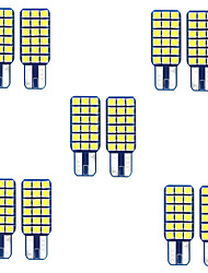 cheap -10pcs W5W Led T10 SMD3030 18 leds LED Canbus Bulb Car Interior Lights Car LED License Plate Lights for universal