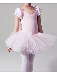 cheap -Ballet Dress Cascading Ruffles Ruching Girls' Training Performance Cap Sleeve Natural Cotton