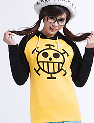 cheap -Inspired by One Piece Trafalgar Law Anime Cosplay Costumes Japanese Cosplay Hoodies Print Long Sleeve Top For Men's
