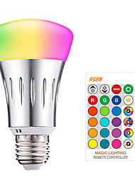 cheap -1pc 10 W LED Smart Bulbs 200-800 lm E26 / E27 9 LED Beads SMD 5050 Smart Dimmable Remote-Controlled RGBW 85-265 V