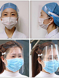 cheap -1PCS Transparent Anti Droplet Dust-proof Protect Full Face Covering Mask Safety Protection Visor Shield Stop The Flying Spit