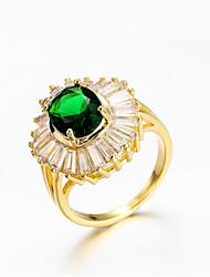 cheap -Women's Ring 1pc Gold Gold Plated Imitation Diamond Round Stylish Gift Festival Jewelry Classic Flower