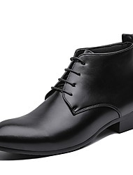 cheap -Men's PU Spring & Summer Boots Booties / Ankle Boots Black