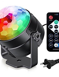 cheap -Colorful Sound Activated Disco Ball LED Stage Lights 3W RGB Laser Projector Light Lamp Christmas Party Supplies Kids Gifts