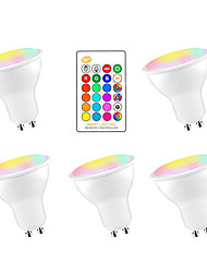 cheap -5pcs 5 W LED Smart Bulbs 350 lm GU10 E26 / E27 3 LED Beads SMD 5050 Smart Dimmable Party RGBW 85-265 V / RoHS