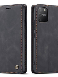 cheap -CaseMe New Retro Business Leather Magnetic Flip Phone Case For Samsung Galaxy A91 A81 A71 A51 With Wallet Card Slot Stand Leather Wallet Phone Case Classic Design with Card Slot Closure Fold Case