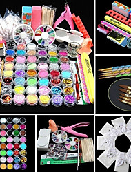 cheap -Glitter for Color-Changing Multi Function Fashion French Party / Evening Daily Festival Half Nail Tips Acrylic Kit Nail Jewelry for Finger Nail Toe Nail