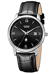 cheap -Men's Dress Watch Japanese Quartz Genuine Leather 50 m Water Resistant / Waterproof Calendar / date / day Day Date Analog Fashion Cool - White+Blue Black Black / White One Year Battery Life