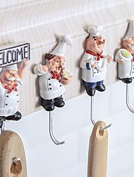 cheap -1pcs Cartoon Shaped Hook Powerful Adhesive Wall Key Holder Wall Door Clothes Coat Hat Hanger Kitchen For Bathroom Towel Hook
