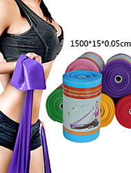 cheap -Exercise Resistance Bands 1 pcs Sports TPE Home Workout Gym Yoga Odor Free Eco-friendly Non Toxic Durable High Elasticity Strength Training Muscle Building Physical Therapy For Men Women Leg Forearm
