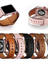 cheap -Genuine Leather Band Loop Strap For Apple Watch 5 4 3 2 1 Men Leather Watch Band