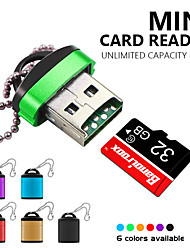 cheap -Mini USB 2.0 Card Reader With Plastic Lid Key Ring High Speed Micro SD TF Memory Card For PC Laptop Phone Camera