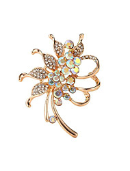 cheap -Women's Brooches Hollow Out Flower Fashion Brooch Jewelry Gold Silver For Gift Festival