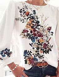 cheap -Women's Floral Print T-shirt Daily White