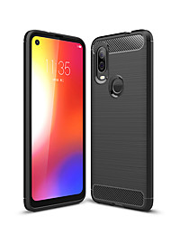 cheap -Naxtop Carbon Fiber Brushed Soft Bumper Back Cover Full Protective Phone Case For Motorola Moto Z4 Z3 P30 Note Play P40 One Vision Power