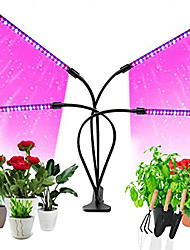 cheap -LED Plant Growing Lights Growth Lamp 5 W 10 W 15 W 200 lm USB with 9 Dimming Levels Timing Full Spectrum Multi-Heads 360 Rotatable Clip Waterproof IP54