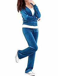 cheap -Women's Tracksuit Sweatsuit Jogging Suit Casual Long Sleeve Velour Warm Softness Yoga Fitness Pilates Running Jogging Sportswear Tracksuit Athleisure Wear Clothing Suit Pink Royal Blue Activewear