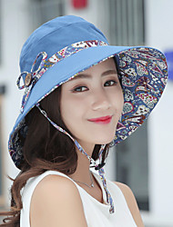cheap -Hiking Hat Fishing Hat Fisherman Hat Hat 1 PCS Portable Sunscreen UV Resistant Breathable Printing Cotton Autumn / Fall Spring Summer for Women's Camping / Hiking Hunting Fishing Burgundy Pink Grey