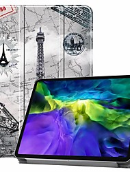 cheap -Case For Pro 11''(2020) / iPad 10.2''(2019) / Ipad air3 10.5'(2019) Shockproof / with Stand / Flip Full Body Cases Eiffel Tower PU Leather Case For iPad (2017) / iPad Mini 5/4 iPad (2018) / iPad Air 2