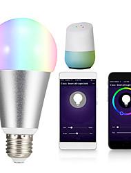 Недорогие -1шт 10 W Круглые LED лампы Умная LED лампа 700 lm E14 B22 E26 / E27 12 Светодиодные бусины Контроль APP Smart синхронизация Multi-цветы 85-265 V