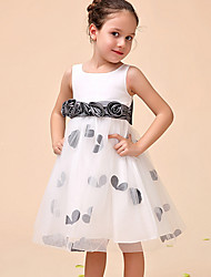 cheap -Ball Gown Ankle Length Party Flower Girl Dresses - Polyester Sleeveless Jewel Neck with Pattern / Print / Appliques